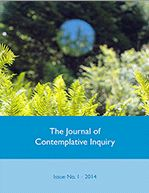 An image of cover of issue 1 of The Journal of Contemplative Inquiry